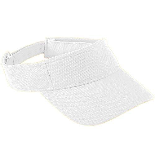 Augusta Sportswear Kids' Adjustable Wicking MESH Visor OS White ()