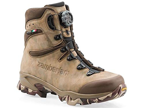 Zamberlan 4014 Lynx Mid GTX RR BOA Hunting Boots Nubuck Leather Brown Men's 13 D by Zamberlan