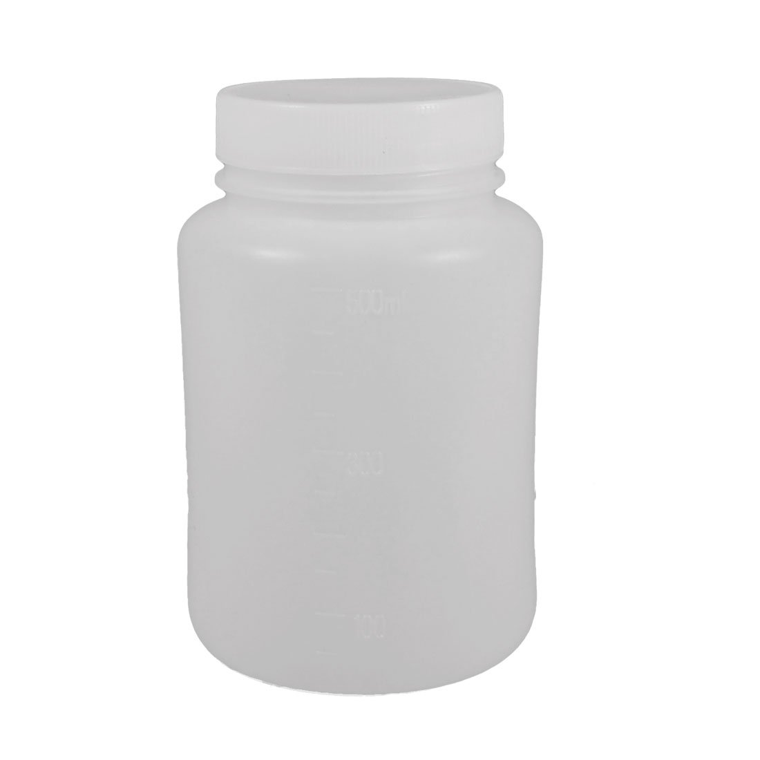 Uxcell a12101800ux0403 Laboratory Chemical Storage Case White Plastic Widemouth Bottle 500mL
