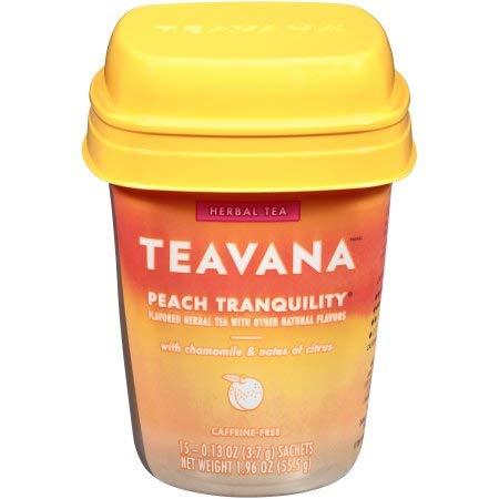 Teavana Peach Tranquility Herbal Tea, 15 Tea Bags, 1.96oz, pack of 1