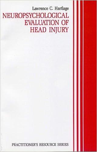 Lataa PDF-tiedostoja ilmaiseksi Neuropsychological Evaluation in Head Injury (Practitioner's Resource Series) PDF
