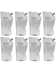 Concealable Undetectable Flask Kit for Cruise (8x 8oz flasks, funnel included)