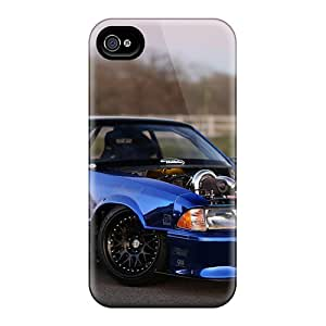 New QxfYx13470EMyzW Ford Mustang With 600hp Supercharge Engine Tpu Cover Case For Iphone 4/4s