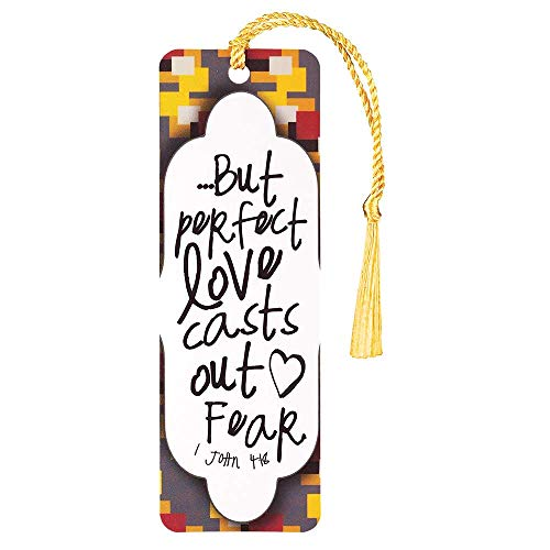 - Perfect Love Casts Out Fear Patterned Cardstock Tassel Bookmark Tags, Pack of 12