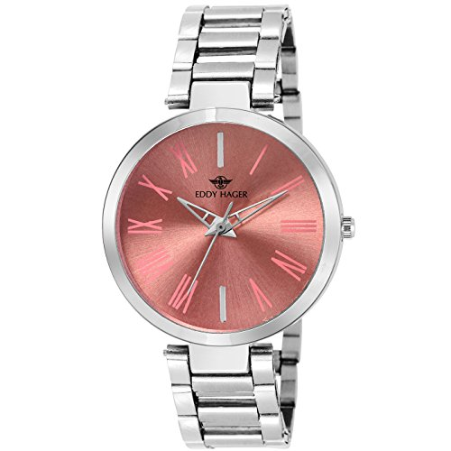 Eddy Hager Pink Dial Women's Watch EH-448-PK