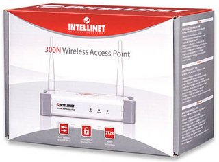 Intellinet Wireless 300N Access Point with 2 x 3dBi Detachable Dipole Antennas ()