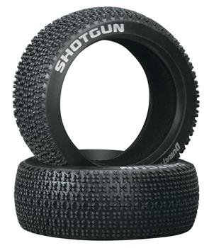Duratrax Shotgun 1:8 Scale RC Buggy Tires with Foam Inserts, C3 Super Soft Compound, Unmounted (Set of 2)