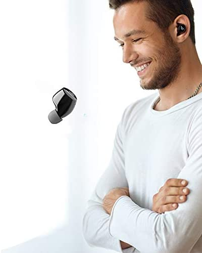 YOUXIERJI Wireless Bluetooth Headset Sports Binaural In-ear 5.0 Earphone Touch Can Answer The Phone Two Colors Can Choose Gaming Headset (Color : Black) White