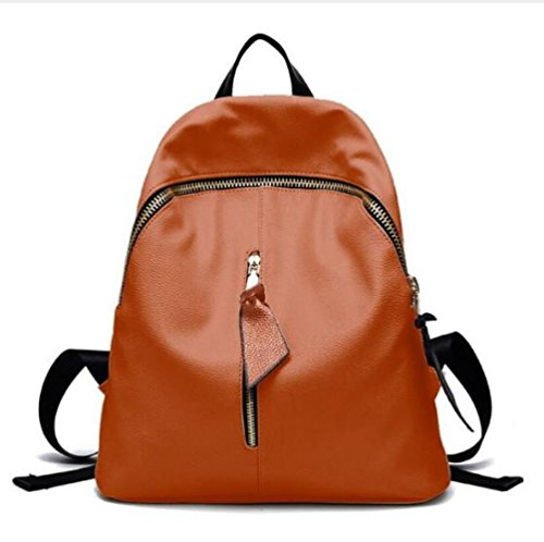 Woman Backpack Travel Bag Multifunctional Woman Tassel Shoulder Mini Backpack Orange xvEwqp4x