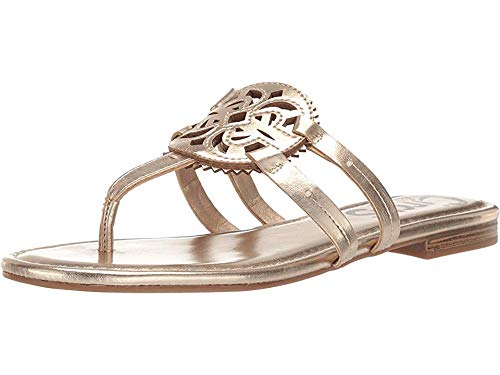 Circus by Sam Edelman Women's Canyon Flat Sandal, Molten Gold New Metal Grain, 8 M US