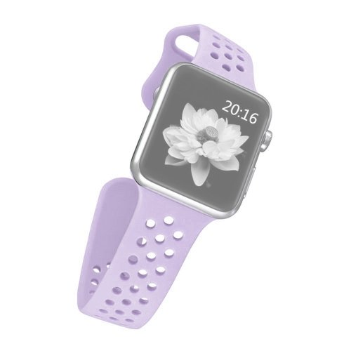 alsatek Pulsera de Silicona para Apple Watch Sport 38 mm Morado Claro