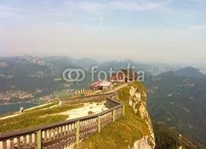 View to Cottage Himmelspforte on top of oveja Berg Punta (86450887), Alu-Dibond, 60 x 40 cm