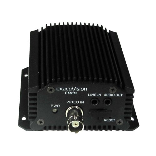 EXACQ 4 channel analog encoder, 4 alarm inputs, 1 alarm output, 1 RS-485 PTZ control port. Requires one IP channel license per device. / E-ADE4C /