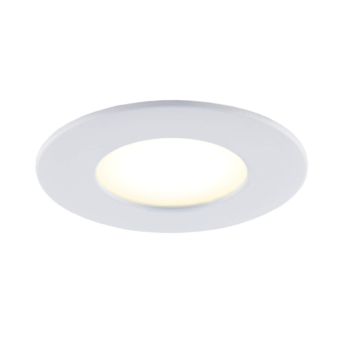 No Hub Required 4-in Matte White Tunable Dimmable Energy Star Smart BAZZ SLMR4RGBWWFW Slim Colors Smart Home Wi-Fi LED Recessed Lighting Kit