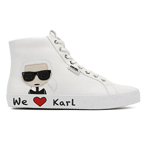 Lace Karl Skool Donna Bianco Ikonic White Hi Lagerfeld Sneaker qzavI