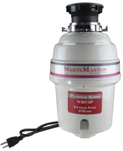 WasteMaster 3/4 HP Platinum Series Garbage Disposal WM75P by Westbrass