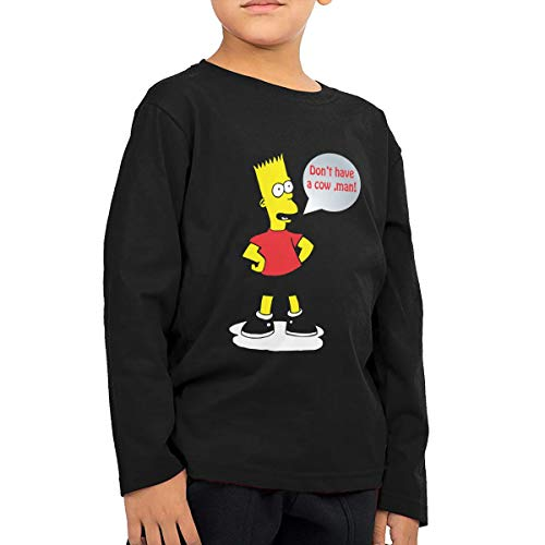 (Unisex Baby Don't Have A Cow Man Toddler's Long Sleeve Round Neck Casual Pullover T Shirt for Kid (Boys Girls))