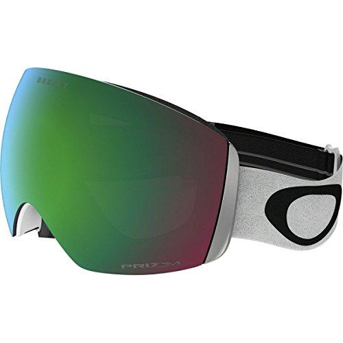 Oakley Men's Flight Deck Snow Goggles, Matte White, Prizm Jade Iridium, - Oakley White