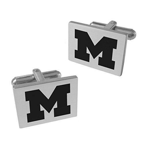 Wolverines Michigan Cufflinks - Michigan Wolverines Stainless Steel Original Style Cufflinks