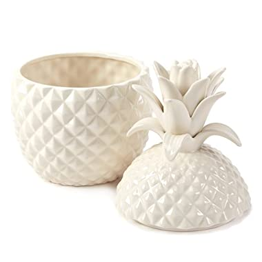 Two's Company Pineapple Jars with Lid, Includes 2 Sizes, Set of 2