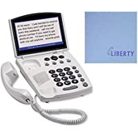 Hamilton CapTel 840i - Real Time Captioning Corded Telephone - Includes Free Liberty Health Supply Microfiber Screen Cloth!