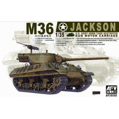 (M-36 Jackson WWII Tank Destroyer w/90mm Gun Motor Carriage 1-35 AFV Club)