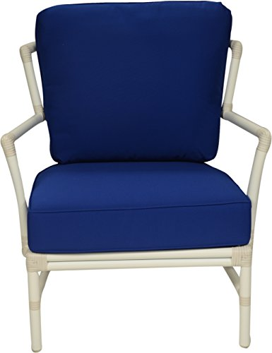 David Francis Furniture AW9700-6331 Nantucket Outdoor Lounge Chair, Sunbrella Pacific Blue