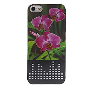 3D Beautiful Flowers Pattern Fashional LED Flash Lightning Hard Case with Battery for iPhone 5/5S