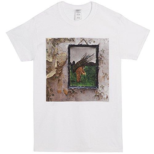 Led Zeppelin Hermit Painting Adult White T-shirt (Medium)