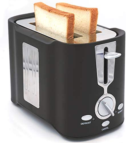 FY Toaster 2 Slice Extra Wide Slot Stainless Steel Toasters With Slide Out Crumb Tray ,7Toasting Browning Shade Settings, Multifunction (Cancel/Defrost/Reheat) With Indicator Light,800W