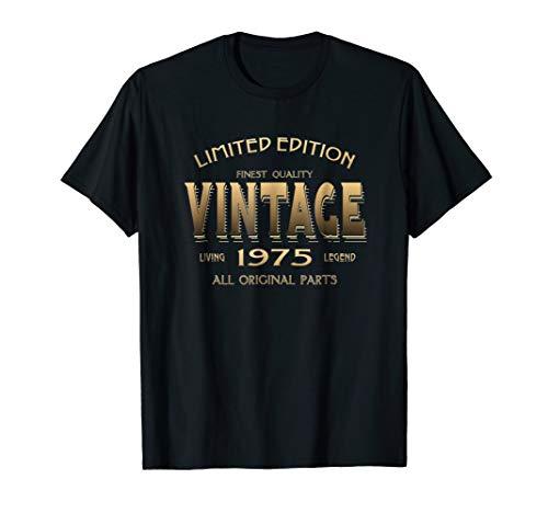 44th Birthday Gift 1975 T-shirt B-day 44 Year Old Age Yr