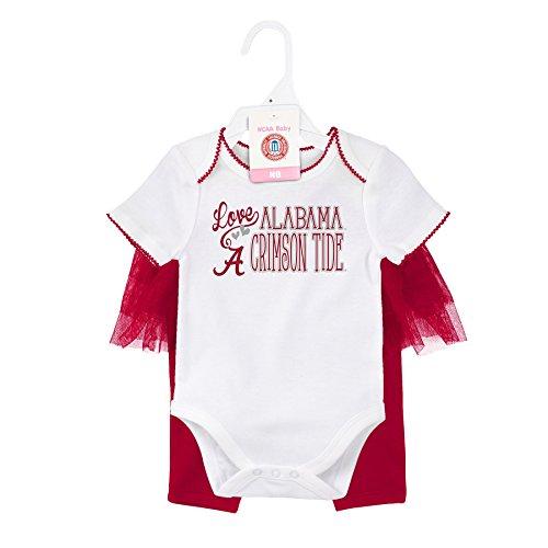 Gen 2 NCAA Alabama Crimson Tide Newborn Footbal Dancer Tutu Legging Set, Multi, 0-3 (Ncaa Baby Clothing)
