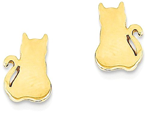 ICE CARATS 14k Yellow Gold Cat Post Stud Ball Button Earrings Animal Dog Fine Jewelry Gift Set For Women Heart by ICE CARATS (Image #11)