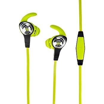 Monster iSport Intensity In-Ear Sports Headphones - Neon Green, Running, Sweatproof