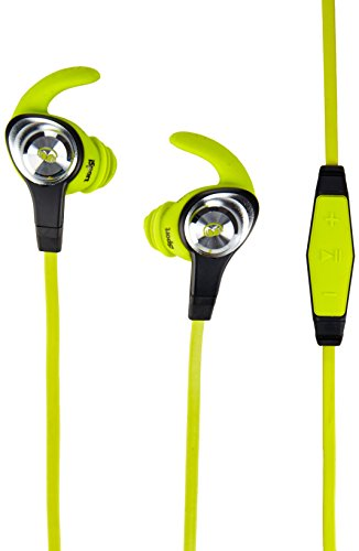 Monster iSport Intensity In-Ear Sports Headphones - Neon Green, Running, Sweatproof