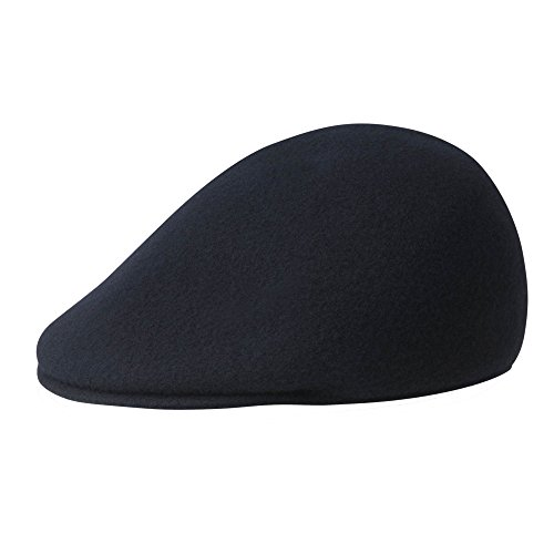Kangol Men's Seamless Wool 507 Ivy Cap, Ergonomic, Contoured Fit, Dark Blue (Large)