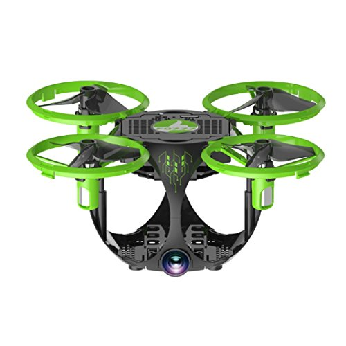 Cinhent Quadcopter, 0.3MP FQ26 UAV Widi Folding Mini Aerial Vehicle Drone RC Helicopter Toy, Beginners Portable Remote Controller Airplane For Toddlers Adults, Green by Cinhent Quadcopter