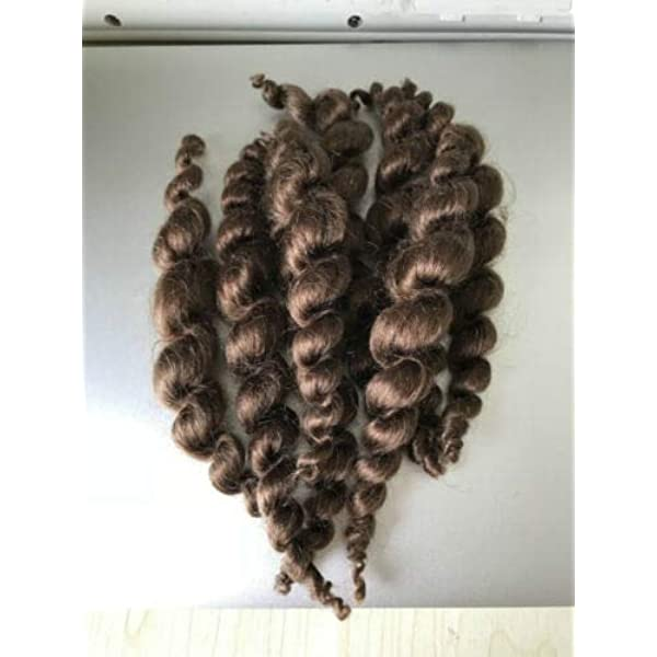 Natural Goat Mohair Hair Weft Dark Brown #2