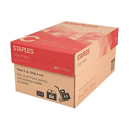 - Staples Copy Paper Multi-Purpose Copier and Fax Machine Carton, Letter Size, Acid Free, 92 Bright, 20 lb, White, 5000 Sheets/Case