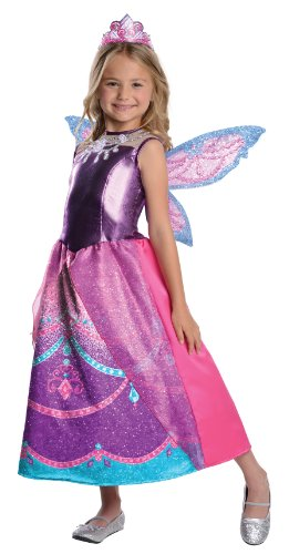 Girls Barbie Costumes (Barbie Fairytopia Mariposa and Her Butterfly Fairy Friends Deluxe Catania Costume, Medium)