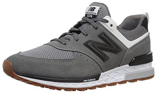 New Balance Men's 574 Sport v1 Sneaker, Grey/Black, 7.5 D ()