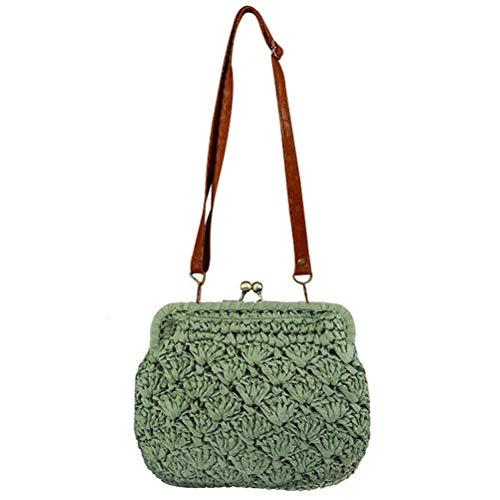 Summer Hollow Mini Bag Out Women bag Shoulder A Abuyall Hasp Straw Beach Casual pwBSHngx