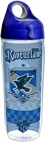 Tervis 1243489 Harry Potter - Ravenclaw Quidditch Insulated Tumbler with Wrap and Blue with Gray Lid 24 oz Water Bottle - Tritan Clear