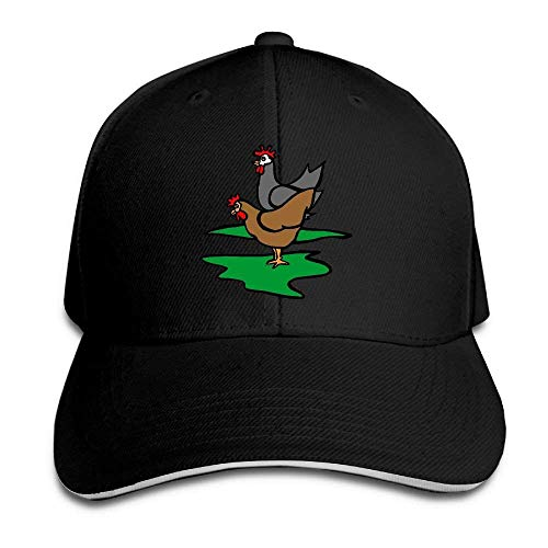 (AUUOCC Baseball Hats, Baseball Caps, Skull Cap, Beanie Hip-Hop Hat, Adjustable Hat, Unisex Animated Chicken Clipart Adult Adjustable Peaked Cap Black)