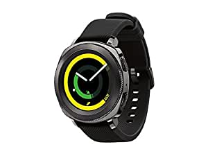 Samsung Gear Sport Smartwatch Fitness Tracker- Water Resistant - International Version- No Warranty- Black (SM-R600NZKATTT)