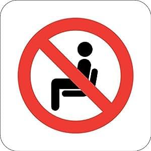 Do not Sit Here transporte adición novedad señal al aire libre Patio decoración aluminio Metal Sign