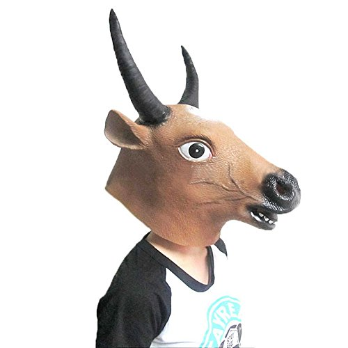 [The Twelve Zodiac Animal Mask - Halloween--Cattle] (Latex Wolf Suit)