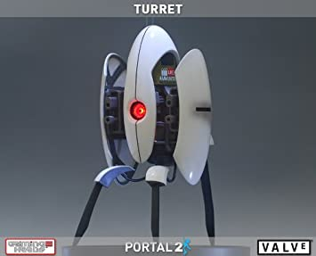 Amazon Gaming Heads Portal 2 Sentry Turret 20 Polystone Statue Toys Games