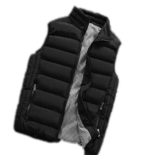 Viento a Hombres para Prueba Ronestz Black de 1717 sin Chaqueta cálido ultradelgado Mangas R Invierno Chaleco de Chaleco n07qZ7wY