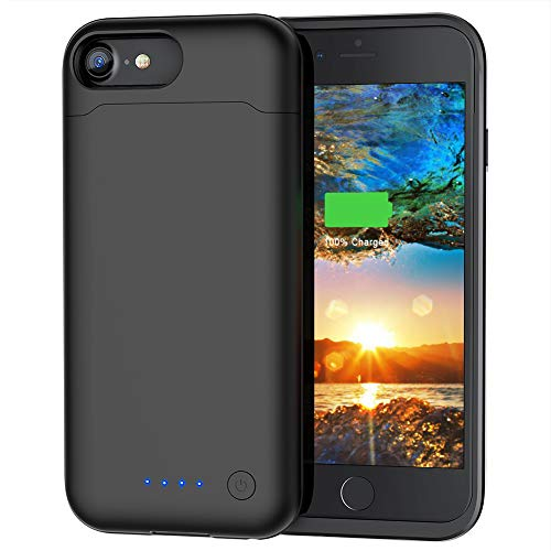 Battery Case for iPhone 6/6S/7/8, 6000mAh Portable Charging Case Protective Rechargeable Charger Case Extended Battery Compatible with iPhone 6 6S 7 8 (4.7 inch)